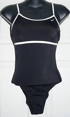Nike Women's Black One-Piece Bathing Swimsuit NWT **