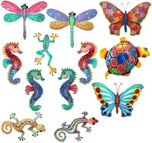 TROPICAL-SOUTHWEST-GECKO-DRAGONFLY-BUTTERFLY-SEAHORSE-TURTLE-WALL-ART-DECOR
