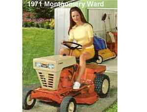 1971 Montgomery Ward 7hp Lawn Tractor Refrigerator Tool