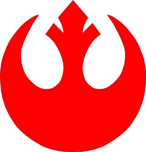 2x star wars logo rebel insignia decal sticker ebay