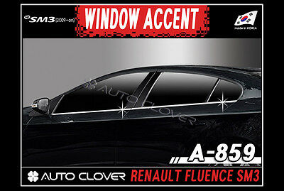 Chrome Window Accent Line Sill 4p For 09 11 Fluence SM3