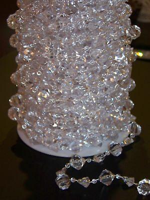 Wedding Garland Hanging Acrylic Crystal Gem Centerpiece Large Gemstone Cut Clear