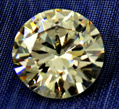 2 ct Brilliant Canary Cut  Vintage Top AAAAA CZ Moissanite Simulant  8 mm