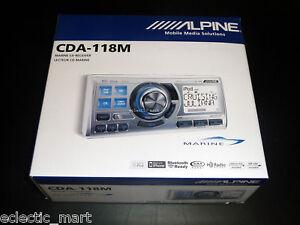 ALPINE-CDA-118M-MARINE-BOAT-CD-MP3-IPOD-USB-RECEIVER-CDA118M