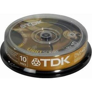 10-TDK-LightScribe-DVD-R-discs-in-5-Pastel-Colors