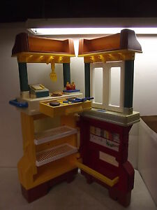 FISHER-PRICE-McDONALD-039-S-RESTAURANT-CENTER-KITCHEN-FUN-WITH-FOOD-2103-LOADED