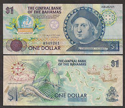 Bahamas Paper Money - Columbus - 1 Dollar 1992 - P50 - CU