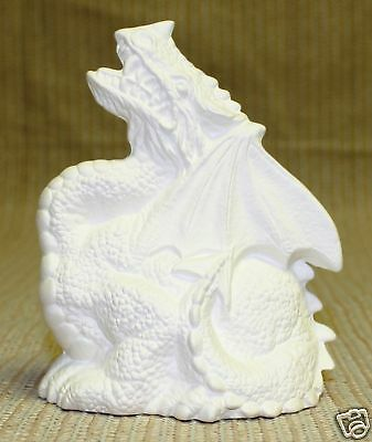 Ceramic Bisque Dragon Incense Holder Nowell Mold 2260 U-Paint Ready To Paint