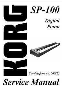 KORG SP-100 SP100 Digital Piano - Repair / Service Manual