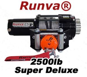 2500lb-New-Runva-ATV-UTV-12V-Towing-Recovery-Electric-Winch-Super-Deluxe-Package