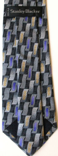 New Genuine STANLEY BLACKER boy/'s silk tie age 8-15 ye