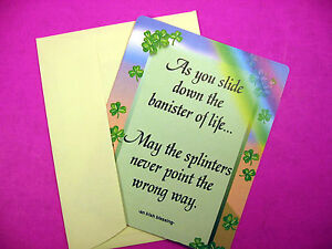 """As You Slide Down The Banister"" - Irish Greeting Card - Blank Inside - Sku# 206"