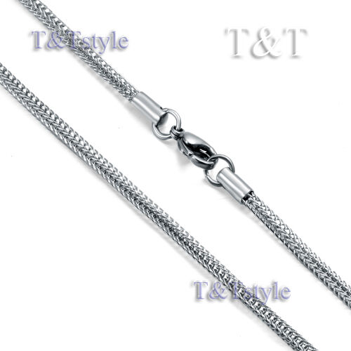 T&T 2.5mm Stainless Steel Square Snake Chain Silver C42