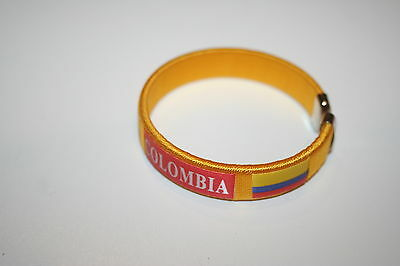 COLOMBIA YELLOW COUNTRY FLAG FLEXIBLE BRACELET NEW