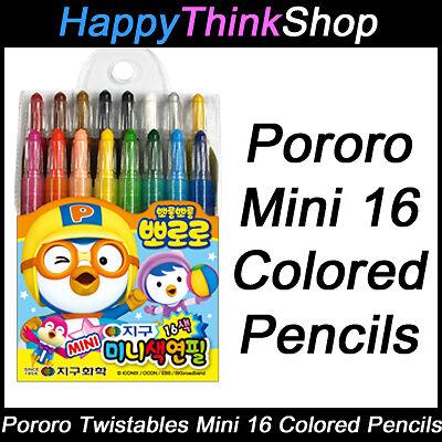 Korean PORORO Mini Twistables 16 Colored Pencils (twist up)