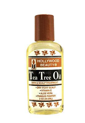 HOLLYWOOD BEAUTY HAIR/SCALP/BODY TEA TREE OIL 2 OZ.