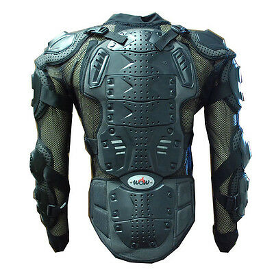 NEW MOTORCYCLE MOTOCROSS BIKE GUARD PROTECTOR ADULT BODY ARMOR BLK S M L XL