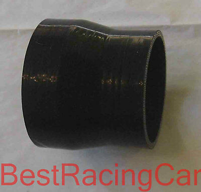 "Silicone Straight Coupler Reducer 3"" to 2.5"" Turbo Silicon, black"