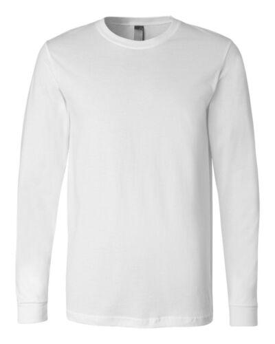 Canvas Mens Long Sleeve Jersey Cotton T-Shirt 3501 XS-2XL