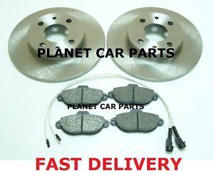 FIAT-PUNTO-1-2-8V-MK2-1999-2005-FRONT-2-BRAKE-DISCS-AND-PADS-SET-NEW-KIT