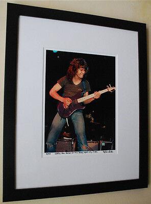 Eddie Van Halen RARE Kramer Guitar fine art photo signed # 11/100 1982 ROXY