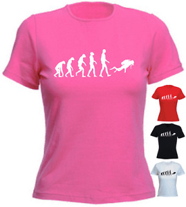 Ape-Human-Dive-Scuba-Birthday-Gift-Present-New-Ladies-T-shirt-8-16