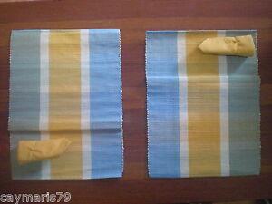 Lote 2 manteles individuales con servilletas NUEVO