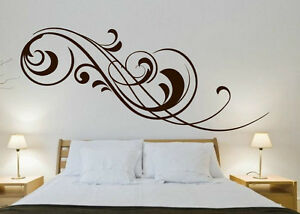 Classy floral design wall stickers Vinyl Decals decoration Many