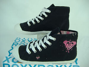 "New Womens 7 ROXY ""Hanzel"" Black Cotton Shoes $36"