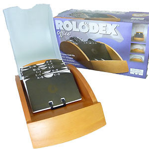 Rolodex-66551-Cherry-Wood-Business-Card-File-with-Cover-and-200-Slotted-Cards