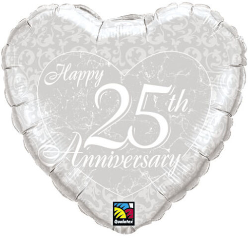 WEDDING ANNIVERSARY FOIL BALLOONS 4 DESIGNS 18 INCH