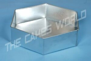 Details About HEXAGON SHAPED WEDDING CAKE TIN 10