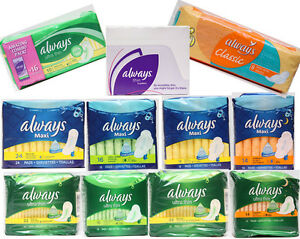 Always-Maxi-Pads-Ultra-Thin-Pads-Pantiliners-Flexi-Wings-LeakGuard-2-Pack