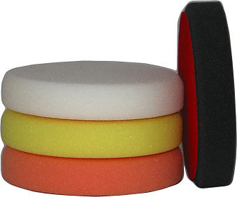 Foam Buffing Polish Compound Pads / Mop Heads X4 Kit For Rotary or DA