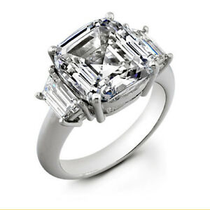 2-80-ct-Asscher-Cut-H-VS1-Diamond-Wedding-Ring-EGL-USA-Square-amp-nice