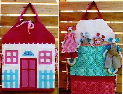PATTERN - The Nibbles Family & Carry-All House - fun softie toy and bag PATTERN