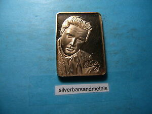ELVIS-PRESLEY-BRONZE-BAR-VERY-RARE-FROM-GREATHOUSE-MINT-ONLY-50-MADE