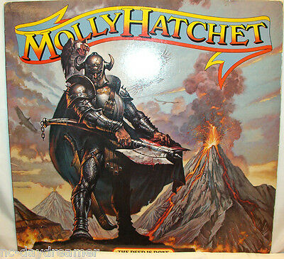 "LP: THE DEED IS DONE by Molly Hatchet (1984 Epic) ""Satisfied Man"",""Backstabber"""