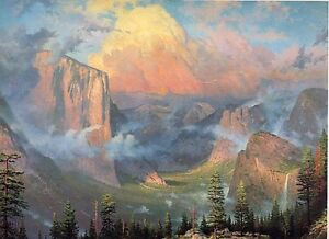 Yosemite-Artist-039-s-Point-by-Thomas-Kinkade-Signed-and-Numbered-Print