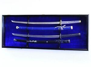 2-4-Sword-Display-Case-Cabinet-Rack-Military-Navy-Civil-War-Samurai-Medievel