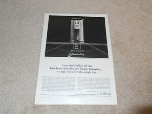 Empire Grenadier Speaker Ad, 1964, 1 Pg, Info, Article, Beautiful!