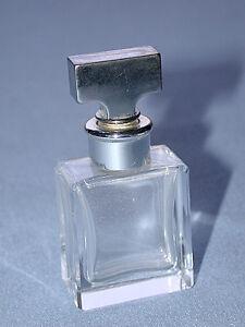 Vintage Silver & Crystal Glass Perfume Bottle ~L@@K~