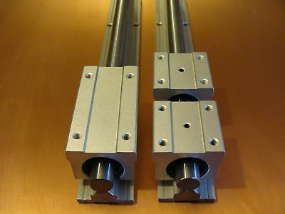 SBR16X300 Precision Supported Rail kit 300mm CNC Parts Router Milling Machines