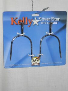 NEW-KELLY-SILVER-STAR-WESTERN-SPURS-SLIP-ON-9PT-ROWEL