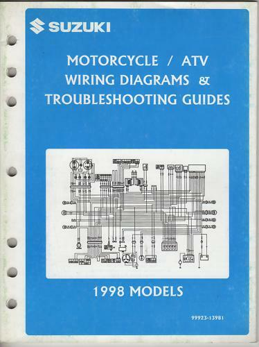 1998 Suzuki Motorcycle  U0026 Atv Wiring Diagram Manual