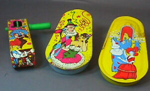 VINTAGE TIN NEW YEAR'S EVE NOISEMAKERS Lot of 3 OLD !!