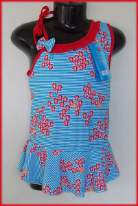 Blue-Floral-Girls-SWIMWEAR-BATHERS-TOGS-Sz-8-NEW