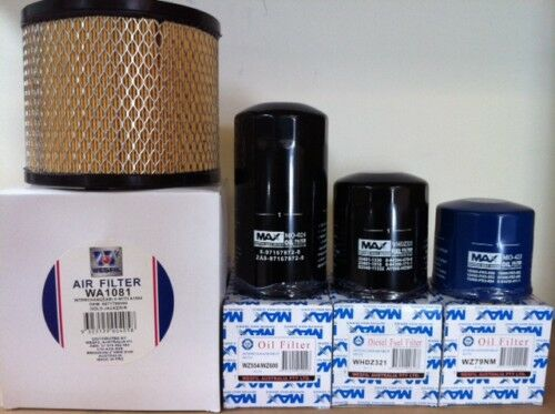 HOLDEN JACKAROO 3.0L TURBO DIESEL 4JX1 AIR OIL FUEL FILTER KIT 3L Z600 Z79 PACK