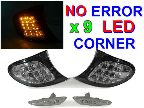 DEPO 02-05 BMW E46 4D/5D AMBER LED CLEAR CORNER SIGNAL + SIDE MARKER LIGHT 325