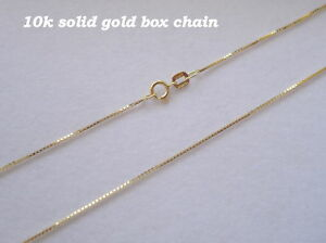 .50mm 10K SOLID GOLD LADIES BOX CHAIN NECKLACE 20